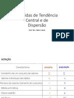 Medidas de Tendência Central e de Dispersão