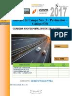 INFORME DE CAMPO N° 3 PAVIMENTOS