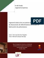 ingeniería básica de una planta de producción de disocianato de difenilmetano (MDI) para la fabricación de poliuretanos