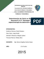"""Determinación de Calcio en """"Ayrampo"""" por espectroscopía de absorción atómica"""