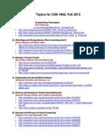 CSE4482 ListOfTopics 2013 v4