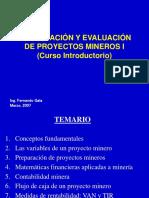 CURSO CIP -2007-  INTRODUCTORIO - FORMULACION Y EVALUACION DE PROYECTOS MINEROS I.ppt