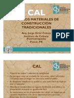 CAL y otros materiales de construcción tradicionales