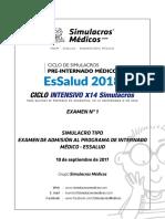 SIMULACRO EsSalud2018 Intensivo
