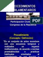 Procedimientos Parlamentarios.