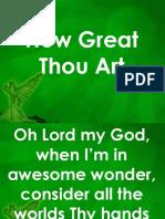 Hw Great Thou Art