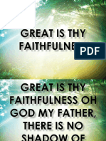 Great is Thy Faithful Ns