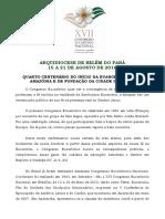 Xvii Congresso Eucarístico Nacional - Projeto