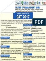 CAT 2017 Advertisement