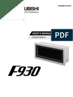 F930GOT-BWD-E - User's Manual JY992D86101-D (11.00)