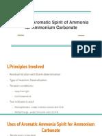 Assay of Aromatic Spirit of Ammonia for Ammonium Carbonate (1)