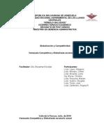 CUARTILLA Venezuela Competitividad y Globalizada Escenario Actual