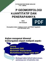 Konsep GeomorfologiKuant Dan Aplikasinya