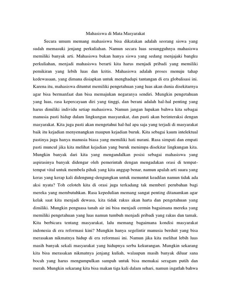 contoh essay peran mahasiswa untuk indonesia kedepan