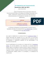 Resolución 4262 de 2013 CRC (Ritel)