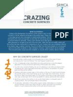 ENews TECH Tip 3 - Crazing Concrete Surfaces