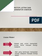 Generator Sinkron & Motor Sinkron Fix