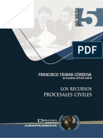 8.- Los Recursos Procesales Civiles.