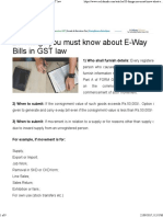 20 Things You Must Know About E-Way Bills in GST Law