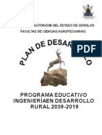 Ingenieria en Desarrollo Rural Plan