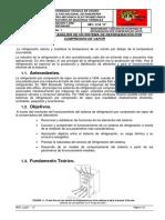 Monitoreo y analisis de un sistema de refrigeración por compresión de vapor