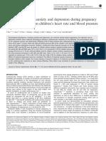 1. Efek kecemasan+depresi VS Tekanan Darah, China 2016
