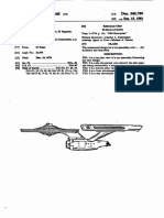 USD260789 NCC-1701 Enterprise Design Patent