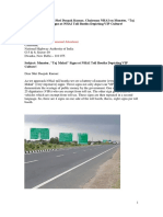 An Open Letter to Mr. Deepak Kumar,  Chairman NHAI,  on Monster Signs Near NHAI Toll Booths Depicting VIP Culture in India