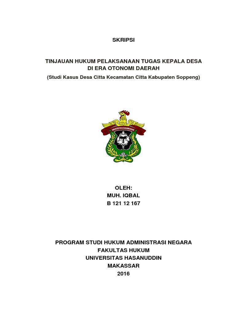 Contoh Judul Skripsi Hukum Tata Negara Tentang Desa Ide Judul Skripsi Universitas