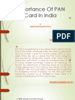 Importance of Pan Card in India