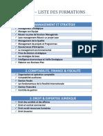 ACADEX - Liste de Formation