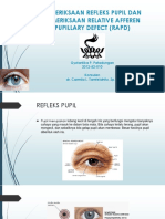 Pemeriksaan Refleks Pupil Dan Pemeriksaan Relative Afferen Pupillary