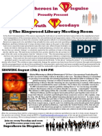 Superheroes in Disguise Screening Flyer - Global Warming