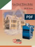 Utica MGB Hot Water Gas Fired Boiler Brochure