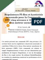 Régulateurs PI-flou Et Hystérésis Neuronale Pour La Commande DTC Cinq Niveaux à 12 Secteurs d'Un Moteur Asynchrone