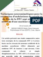 Techniques Neuromimétiques Pour La Correction d'Ondulations Du Couple Et Du Flux de La DTC Sept Niveaux à 6 Secteurs d'Une Machine Asynchrone
