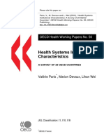 Health Systems Institutional Characteristics