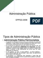 Slides Adm Pública - evolução