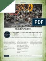 Aos Warscroll Orruk Warboss En