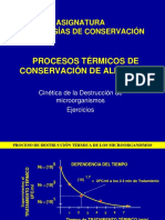 Ejercicios Procesos Termicos de Conservacion
