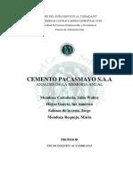 Cemento Pacasmayo Trabajo de Investigacion