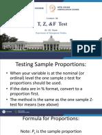 20T, Z & F TEST