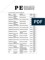 PPE Societ Revision Timetable