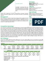 Grow Sciences LLC - Investor Snapshot Aug 2017