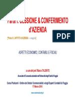 Cessione & Conferimento