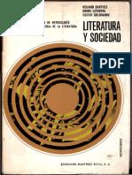 Barthes, Roland, Lefebvre, Henri, Goldmann, Lucien - Literatura y sociedad [1969].pdf