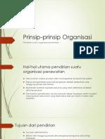 Prinsip-prinsip Organisasi Perawatan