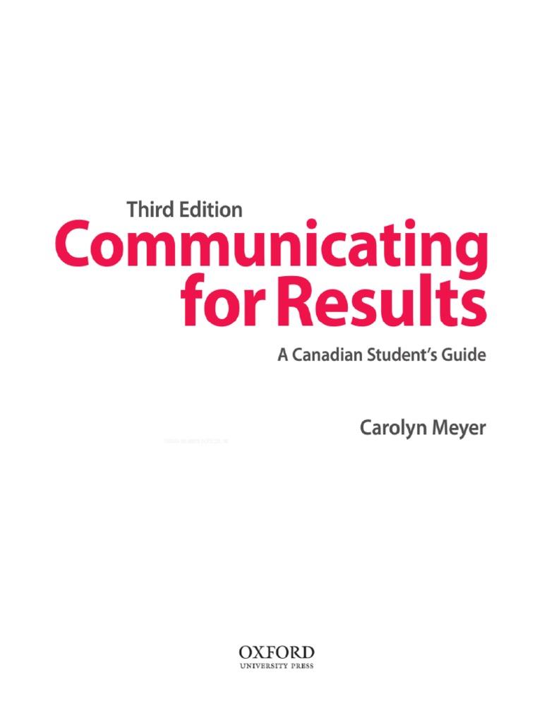 de884a84e024 Communicating for Results 3rd Ed
