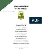 LAPORAN TUTORIAL KELOMPOK 9 BLOK 3.1 MINGGU 1.docx