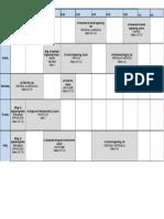 Mech Timetable 2017-18 Year 3 Semester 1